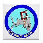 USS Daly (DD 519) Tile Coaster