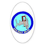 USS Daly (DD 519) Oval Sticker