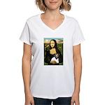 Mona & Fox Terrier Women's V-Neck T-Shirt