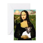 Mona & Fox Terrier Greeting Card