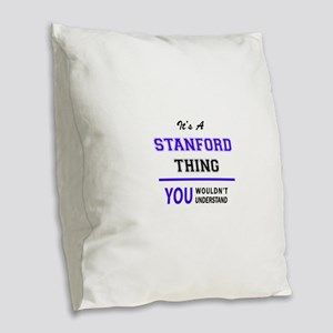 STANFORD thing, you wouldn't u Burlap Throw Pillow