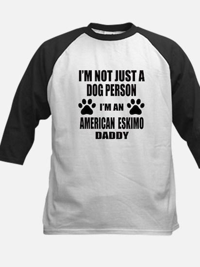 I'm an American Eskimo Dog Da Kids Baseball Jersey