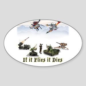 If It Flies It Dies Sticker