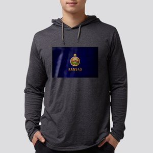 Kansas Flag Long Sleeve T-Shirt