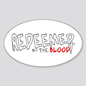 Redeemed by the Blood Oval Sticker