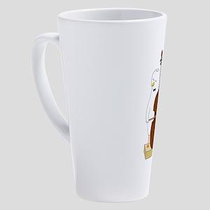 Double Bass Player 17 oz Latte Mug