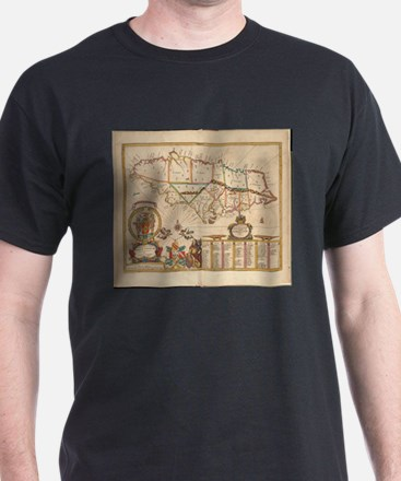 Vintage Map of Jamaica (1672) T-Shirt