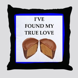 peanut butter cup Throw Pillow