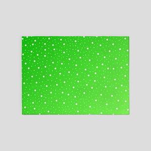 white sahmrocks in green 5'x7'Area Rug