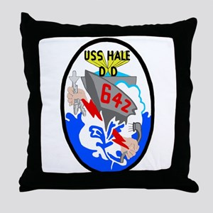 USS Hale (DD 642) Throw Pillow