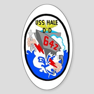 USS Hale (DD 642) Oval Sticker