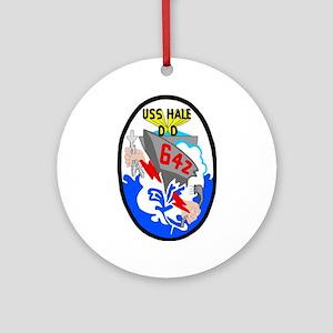 USS Hale (DD 642) Ornament (Round)