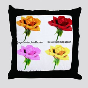 Rose Meanings-2 Throw Pillow