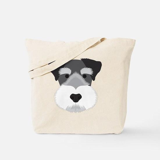 Cute Miniature schnauzer puppy Tote Bag