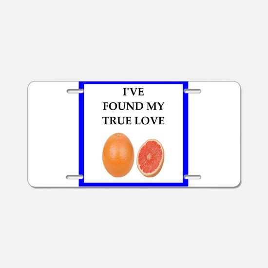 grapefruit Aluminum License Plate