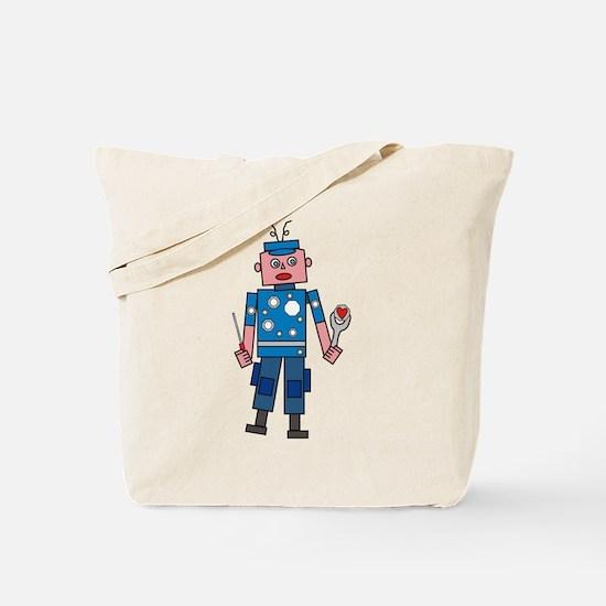 Robot man Tote Bag