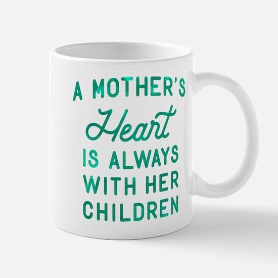 A Mother's Heart Green Mug