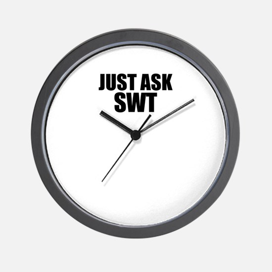 Just ask SWT Wall Clock