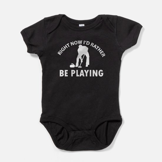 I'd Rather Be Playing Curling Baby Bodysuit