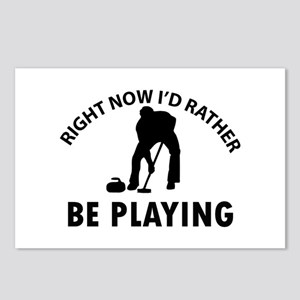 I'd Rather Be Playing Cur Postcards (Package of 8)