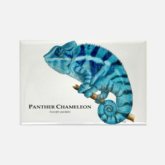 Panther Chameleon Rectangle Magnet