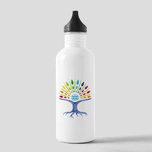 Psychedelic tree Sports Water Bottle