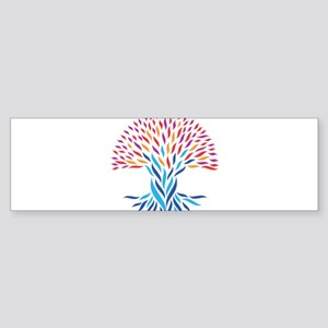 Psychedelic tree Bumper Sticker