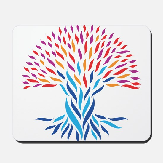 Psychedelic tree Mousepad