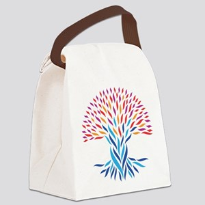 Psychedelic tree Canvas Lunch Bag