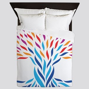 Psychedelic tree Queen Duvet
