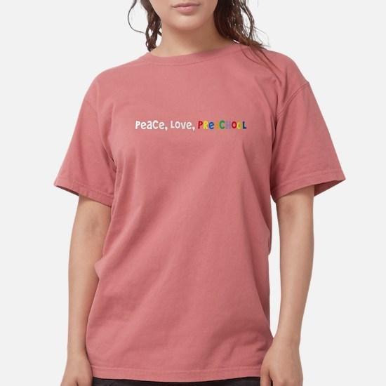 Peace, Love, Preschool Women's Dark T-Shirt