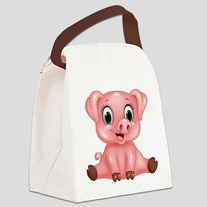 Piggie Canvas Lunch Bag