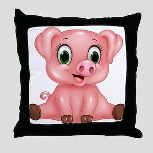 Piggie Throw Pillow