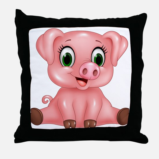 Piggie Throw Pillow