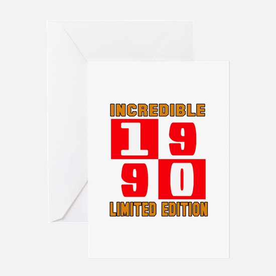 Incredible 1990 Limited Edition Greeting Card