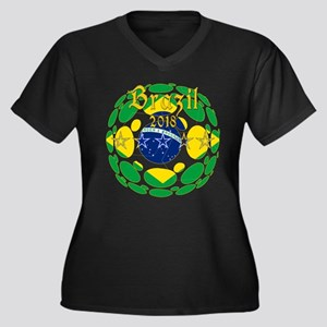 Brazil 2018 World Cup Plus Size T-Shirt