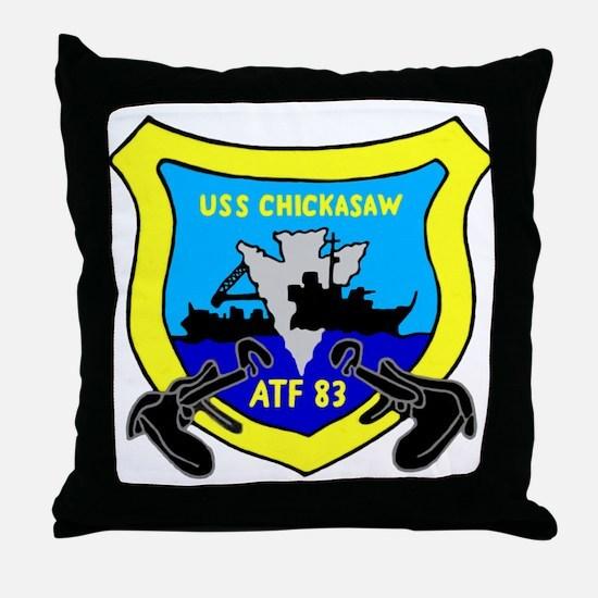 USS Chickasaw (ATF 83) Throw Pillow