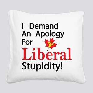 Apology Square Canvas Pillow