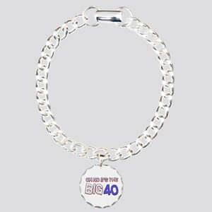 Oh No It Is The Big 40 Charm Bracelet, One Charm