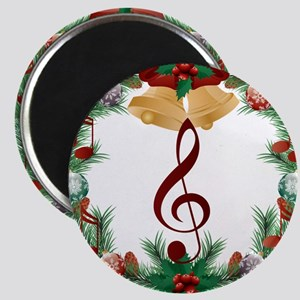 Treble Christmas Music Magnets