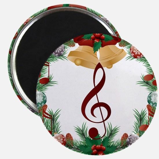 Treble Christmas Music Magnets