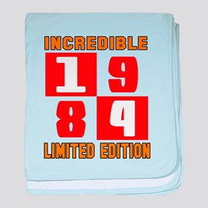 Incredible 1984 Limited Edition baby blanket