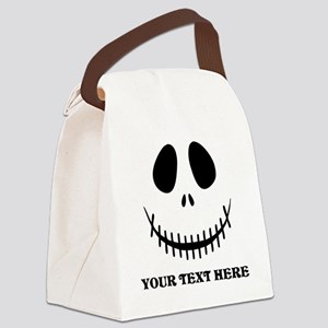 Custom Halloween Skeleton Canvas Lunch Bag