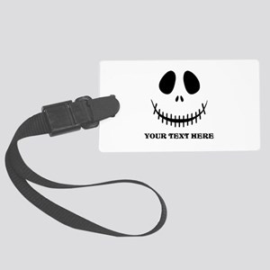 Custom Halloween Skeleton Large Luggage Tag