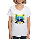 USS Chickasaw (ATF 83) Women's V-Neck T-Shirt