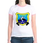 USS Chickasaw (ATF 83) Jr. Ringer T-Shirt
