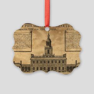 Vintage Illustration of Independe Picture Ornament