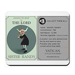 Sister Randy's Baseball Card Mousepad