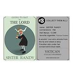 Sister Randy's Baseball Card Postcards (Package of