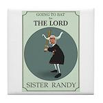 Sister Randy's Baseball Card Tile Coaster